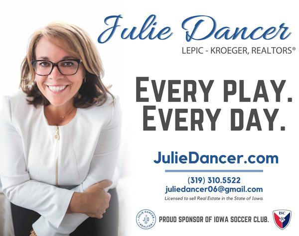 Iowa Soccer Club | 2019 Bubble Blowout Field Sponsor | Julie Dancer